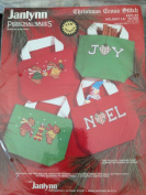 Janlynn Christmas Cross Stitch Holiday Lil' Totes Set of Two 13cm X 13cm X 5.1cm