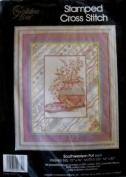 Southwestern Pot Stamped Cross Stitch 41cm x 50cm Craft Kit