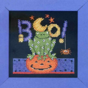 Boo Frog - Beaded Cross Stitch Kit by Debbie Mumm DM303104