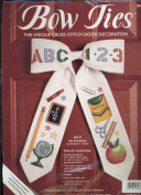 Bow Ties - The Unique Cross Stitch Door Decoration - Back To School Designed by Michael A. LeClair