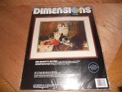 Dimensions Crewel Her Majesty's Kittens Cross Stitch Kit