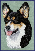 Pegasus Originals Pembroke Welsh Corgi Black Headed Tri Counted Cross Stitch Kit