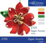 Zipper Accents Holiday Colours Zipper Trim By Indygo Junction