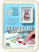 "Easy Street Crafts SF557C ""Square"" Hoop-Frame, 2 Parts, 13cm by 18cm , Cream"