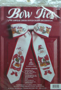 Mr. & Mrs. Claus Bow Counted Cross Stitch Kit