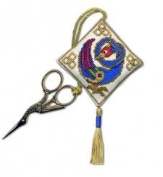 Textile Heritage Scissor Keep Cross Stitch Kit - Celtic Bird