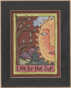 Sticks Live By The Sun Counted Cross Stitch Kit-13cm x 18cm 28 Count Linen