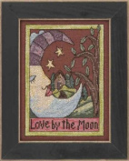 Sticks Love By The Moon Counted Cross Stitch Kit-13cm x 18cm 28 Count Linen