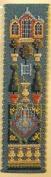 Textile Heritage Counted Cross Stitch Bookmark Kit - Orangery - Cream Background