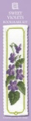 Textile Heritage Sweet Violets Counted Cross Stitch Bookmark Kit