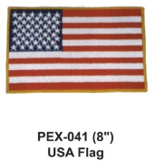 20cm Embroidered Military Extra Large Patch USA Flag