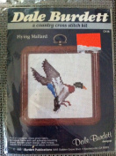Flying Mallard Counted Cross Stitch 7.6cm X 7.6cm