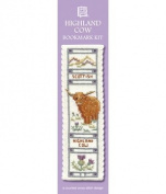 Textile Heritage Counted Cross Stitch Bookmark Kit - Highland Cow