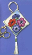 Textile Heritage Scissor Keep Cross Stitch Kit - Anemones