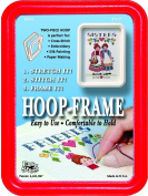 "Easy Street Crafts ""Square"" Embroidery Hoop-Frame, 13cm by 18cm , Red"
