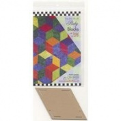 Come Quilt with Me Template - Baby Blocks 60 degree Diamond Template 15cm x 8.9cm