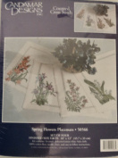 Spring Flowers Placemats Counted Cross-Stitch Kit By Candamar Designs