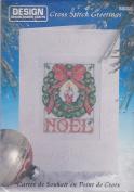 Noel Cross Stitch Greeting Card Kit By Design #5832