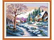 Happy Forever Cross Stitch,Scenery, snow scene 1