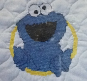 Janlynn Cookie Monster Bib - Stamped Cross Stitch #68-56
