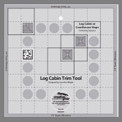 Creative Grids Log Cabin Trim Tool for 20cm Finished Blocks Quilt Ruler