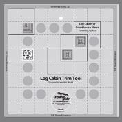 Creative Grids Log Cabin Trim Tool for 20cm Finished Blocks Quilt Ruler
