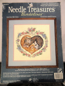 JCA Needle Treasures Counted Cross Stitch Kit - Loving Kittens