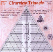 Clearview Triangle 25cm 60 Degree Acrylic Quilt Ruler