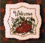 Sweetheart Tree Autumn Pumpkins Welcome Counted Cross Stitch Kit