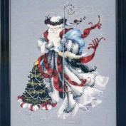 Winter White Santa Cross Stitch Pattern