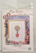 Floral Topiary-Ribbon Embroidery Kit-True Colours