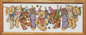Design Works Counted Cross Stitch kit - On The Line Teddies