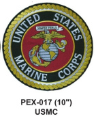 25cm Embroidered Military Extra Large Patch USMC