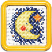 Easystreet Little Folks Moon and Stars Counted Cross-Stitch Kit