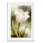 Beautiful White Flower 3d Cross Stitch Kit - 36cm By 30cm