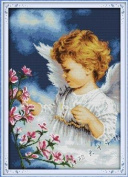 Happy Forever Cross Stitch, figure, the little angel, girl