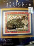 "Lesley Anne Ivory's ""Ivory Cats"" Counted Cross Stitch Kit #5603"