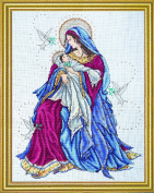 Counted Cross Stitch, Madonna and Child, 30cm by 38cm