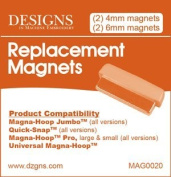 Magna Hoop Replacement Magnets for Jumbo, Quick-snap, Pro, Universal