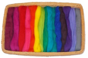 46cm - 15 colour fine wool roving- 150ml