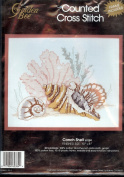 Golden Bee Conch Shell Counted Cross Stitch Kit