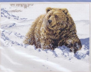 Heavy Going Grizzly - Counted Cross Stitch Kit 16x12