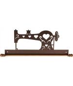 Ackfeld 41cm Sewing Machine Metal Wall Craft Quilt Textile Holder Hanger