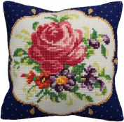 Collection D'art Meissen Gauche Pillow Cross Stitch Kit 15 3/4'X15 3/4'