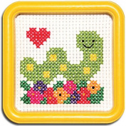 Easy Street Little Folks Happy Itch Worm with Flowers Cross-Stitch Kit
