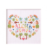 Aloha No.7866 LECIEN Heart cross stitch kit _Aloha Stitch Arohasutetchi_