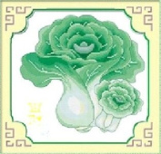 Qishi's Dimensions Needlecrafts Counted Cross Stitch 36cm x 36cm Green Vegetable