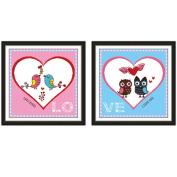 Lovebirds 3D Stamped Cross Stitch Kit - 90cm By 48cm