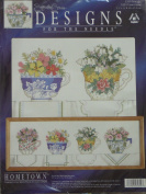 Signature Series Designs Teacups Counted Cross Stitch Kit