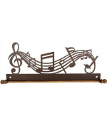 Ackfeld 30cm Music Notes Metal Wall Craft Quilt Textile Holder Hanger